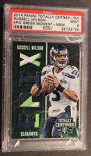 2014 Certified Russell Wilson EPIX Green Memorabilia Seattle Seahawks 3/5 PSA 9