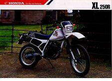 1988 HONDA XL250RJ Trail 2 Page Motorcycle Brochure NOS