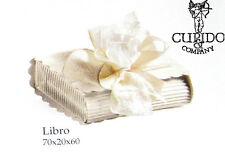Scatola bomboniera libro sorgente bianco 70x20x60 mm set 50 pz art 53711