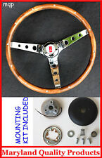"1969-1993 Oldsmobile Cutlass 442 GRANT Walnut Wood Steering Wheel 13 1/2"""