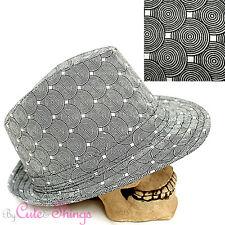 Circular Moire Pattern  Unisex Fedora Trilby Hat Homburg Bucket Cap (ML)