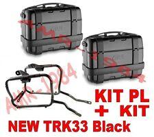 KIT 2 VALIGIE TRK33 BLACK + TELAIO HONDA NC750 X  NC750X 2016 + PL1146 + 1146KIT