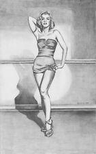 "Marilyn Monroe pencil Art Print Signed by Vangocha 13""x 20"""