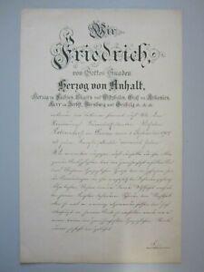 Ernennungsurkunde vom Herzog von Anhalt 1904 (1367)