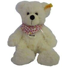 More details for steiff 117503 lotte teddy bear white flower bandana soft toy plush