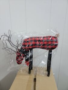 Home Reflections Grazing Plaid Fabric Reindeer