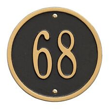 "Whitehall Products Round Circle Address Plaque House Number sign 6"" Wall Custom"
