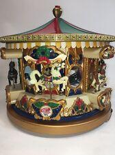 Mr Christmas Holiday Merry Go Round Animated Musical Carousel Plays 21 Carols