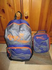 "Nwt Roxy Girls ""Sunset"" School Backpack Book Bag & Bonus Lunch Box, School!"