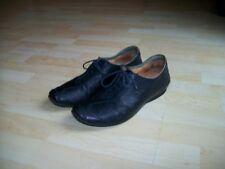 THINK Damen Schuhe Halbschuhe Sneaker Gr. 42 Leder dunkelblau, fast schwarz!!!