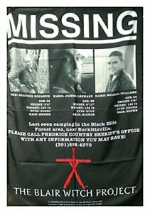BLAIR WITCH PROJECT missing Textile poster fabric flag