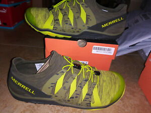 NEW $100 Mens Merrell Trail Glove 5 Running Shoes, sz 11.5