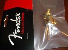 NEW - Genuine Fender, Schaller Strap Lock Tops (2) - GOLD, 002-2043-049