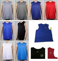 Mens Sport T-Shirt Tank Muscle Tee Quick Dry Top Athletic Basketball Gym Running