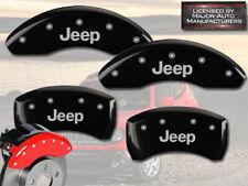 "2014-2020 ""Jeep"" Cherokee BRF Front + Rear Black MGP Brake Disc Caliper Covers"