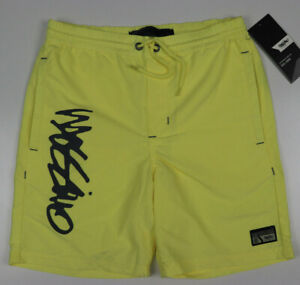 Mossimo Mens Yellow Stripe Beach Short with Pockets Size XS