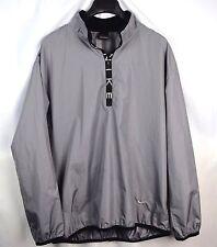 Vintage Nike 1/2 Zip Gray Black Thin Windbreaker Golf Jacket Size L Large M56c