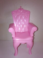 Swan Lake Castle Pink Princess Throne Chair Barbie Furniture