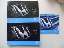 2005 Honda Civic Hybrid Owner's Manual User Guide & Booklets #2282