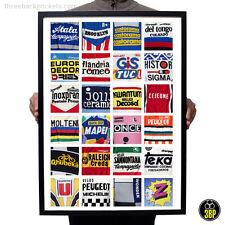 El A.b.c De Ciclismo Deportes Camisetas! Retro Vintage Pared arte cartel impresión de diseño