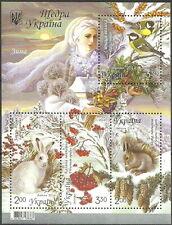 Ukraine - Winter 2014 Block 125 postfrisch Mi. 1458-1461