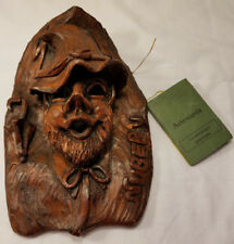 Vintage Spanish Mythology El Nubero Face Sculpture Wall Hanging Artesania