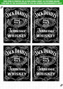 Jack Daniels Whisky Label Black edible cake topper ICING / WAFER