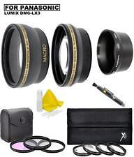 Accessory Lens Filter Kit for Panasonic Lumix DMC-LX3