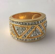 G-Filled 18k yellow gold simulated diamond Ladies ring band REDUCED DUE TO MARKS