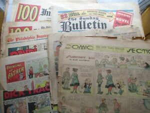 Over 80 pages of Sunday Newspaper Comics 1918 to 1965