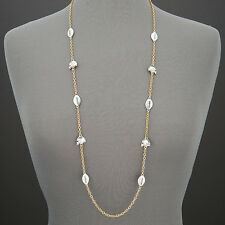 Long Gold Chain Silver Footballs Helmets Game Day Inspired Statement Necklace