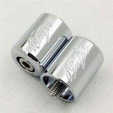 For Kawasaki Ninja EX250 EX500 EX650R ZX6R-636 ZRX1100 ZZR1200 CHROME Bar Ends