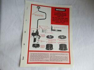 John Deere 4020 3020 4010 tractor cylinder block boring tool spec sheet brochure