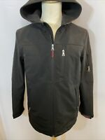 Guess Men's Full Zip Polyester Jacket With Hood - Size Medium Black - R1-2