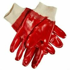 Heavy Duty PVC Gloves Large Rubber Safety work Gloves size 10