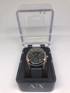 Armani Exchange AX2072 Leather Strap Chronograph Men's Watch
