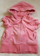 BabyGap Girls 3T Pink Velour Short Sleeved Jacket
