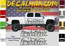 2 METAL MULISHA VINYL DECALS GMC CHEVY FORD F250 F350 SUPERDUTY DIESEL TRUCKS