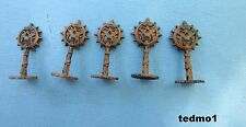 2007 Battleground Crossbows & Catapults Parts - 5  Flags (Orcs - Brown )