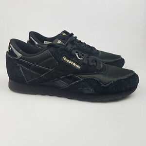 Women's REEBOK 'Classic Leather' Sz 9 US Shoes Black VGCon   3+ Extra 10% Off