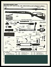 1994 Mauser Model 3000 Rifle Parts List Ad
