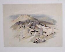 David Roberts 1844 litografia un antico tempio egizio su Gebel LA TERRA SANTA