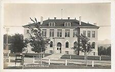 RPPC Postcard Livingston Montana Park County, MT High School