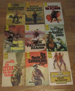 9 Heyne Western Taschenbücher aus den 1970er Jahren