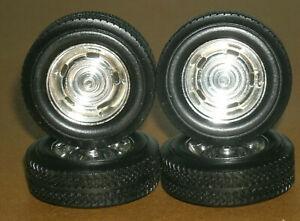 1/18 Scale Wheel & Tire Set on 1967 Camaro Z28 Rims (Diorama Parts) Car Tires
