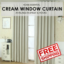 Sunlight Blackout Room Darkening Curtains 2 Panel Set - Cream Size M