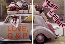 2007 Juicy Couture Tim Walker Lisa Cant in car fashion MAGAZINE AD