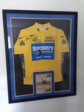 Lance Armstrong Tour de France Jersey Autographed - Professionally Framed