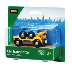 BRIO 33577 Car Transporter Wooden Train Railway Rolling Stock inc 2 pcs Age 3+