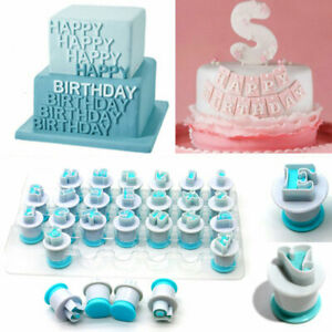 Numbers Letters Fondant Stamp Cake Mold DIY Alphabet Embossing Mould Baking Tool